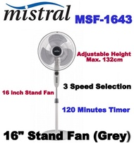 Mistral MSF1643 16 Stand Fan (Grey)