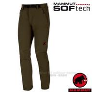 【瑞士 MAMMUT 長毛象】男新款 SOFtech TREKKERS 智慧機能4D彈性透氣快乾防潑水軟殼長褲/1020-09760-4023 橄欖綠