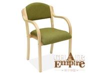 《Chair Empire》北歐扶手椅 實木麻布餐椅 休閒椅陽台椅 電腦椅辦公椅 四色