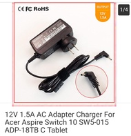 12V 1.5A AC Adapter Charger For Acer Aspire Switch 10 SW5-015 ADP-18TB C Tablet