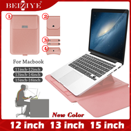 Notebook Sleeve Bag For Macbook air 12 13.3 15.4 inch Case Laptop Bag PU Leather Sleeve Bag Case For Macbook Air Pro 13 15 inch Leather Stand Cover