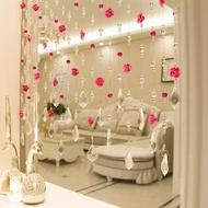 門簾珠簾裝飾客廳隔斷簾玄關弧形屏風大門拱形門裝飾品玻璃創意簾