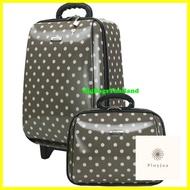 กระเป๋าเดินทาง ร้านแนะนำกระเป๋าเดินทางล้อลาก ขนาด 18 นิ้ว และ 14 นิ้ว รุ่น 7719 (Grey)
