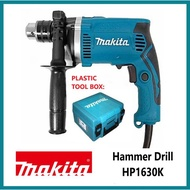 Makita Hammer Drill HP1630K with Plastic Tool Box Original