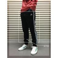 IMPACT Adidas ESS 3S TRICOT 黑 白 三線 縮口褲 束口褲 長褲 運動 百搭 BK7396