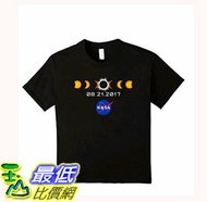 [106美國直購] 2017 NASA 太空總署日蝕 T shirt 小孩款 NASA Total Solar Eclipse T-Shirt August 21 2017