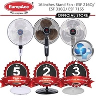 EuropAce 16 Inches Stand Fan / Stand with Remote Up to 6 Yrs Motor Warranty*