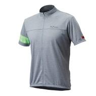 【7號公園自行車】PEARL IZUMI 337-B-2 FREEASY 男性都會休閒款短袖車衣(淺灰/綠)