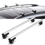 HARDCASTLE 120CM AERO CAR ROOF BARS ALUMINIUM LOCKABLE/LOCKING SILVER CROSS BARS