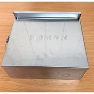 【不鏽鋼專賣】2聯 白鐵屋外防水箱 白鐵 不鏽鋼 電信箱 弱電箱 開關箱 控制箱 動力箱 防盜箱 電氣箱 開關箱 對講