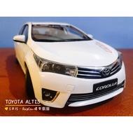 🙋🏻♂️BuyCar模型車庫 1:18 Toyota Altis 模型車白色