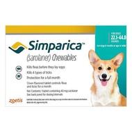 Simparica ซิมพาริคา 40mg. [สำหรับสุนัขน้ำหนัก 10-20kg.]