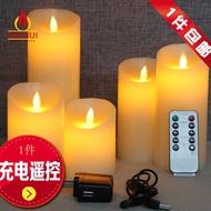 特賣 ♚usb遙控充電led電子 蠟燭 燈搖擺火苗仿真石蠟假 蠟燭  婚慶 浪漫引路燈