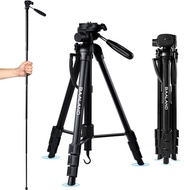 BAALAND Camera Tripod, 70 inch Folding Lightweight Aluminum Tripod with Carry Bag for Canon Nikon DS