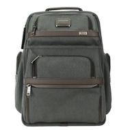 TUMI ALPHA 3多功能雙拉鍊內袋後背包(適用15吋筆電)-炭灰