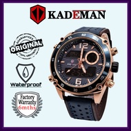 【READY STOCK 】KADEMAN Super Promotion  KADEMAN K820G Analog Digital Watch for Man Original Business Stainless Steel Wate