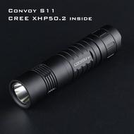 【宏安達家居】Convoy S11  2400流明 CREE XHP50.2 LED雙色可選 26650強光手電筒
