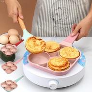 ❏NEW! Aesthetic Frying Pan 4 Holes Non-stick Thickened Omelet Pan Pancake Egg Burger Pan (PastelPink