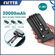 fast charger xiaomi powerbank 10000mah powerbank 50000mah pineng 20000mAh Powerbank Portable 4 Output Built In Cable Pow