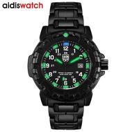 Addies Luminous Watch Military Watches Top Brand Fashion Casual Sport Black Full Steel Quartz Watch Men Male Clock Wristwatch