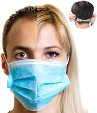 Surgical Face Masks - X50 GENERISE 3Ply Non-Medical Face Masks UK Stock Blue EN149:2001 - Breathable, Disposable Face Masks to Cover Mouth & Nose with Face Mask Extender