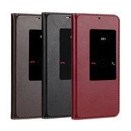 Huawei Mate 20 Pro 10 Pro 真皮革保護套頭層牛皮真皮來電視窗隱藏磁吸翻蓋手機套皮套