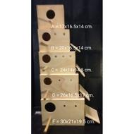 hot กล่องเพาะไซส์ B :  กล่องเพาะนกหงส์หยก  นกขนาดเล็ก  รังฟักไข่ บ้านนก บ้านกระรอก