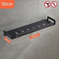 ชั้นวางของในห้องน้ำฝักบัวอาบน้ำเก็บ40/50/60ซม.สีดำชั้นวางเหล็กกล้าไร้สนิมสี่เหลี่ยมผืนผ้าชั้นวาง ELM15