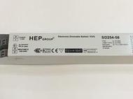 HEP SD254-58 T5/T8/TC-L 54~58Wx2 220~240V 安定器