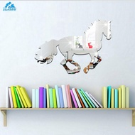 3D Galloping Horse DIY Mirror Wall Sticker Home Room Decoration Art Decals