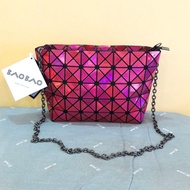 Metallic Ruby Red Issey Miyake BAOBAO Sling Bag / Clutch