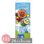 王子 Nepia - Genki!麵包超人褲型-日本原產台灣正規授權-褲型 (XXL號[13~28kg])-26片x3包/箱
