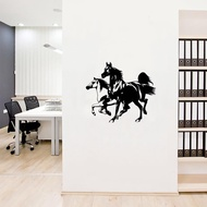 Double Horse Tail Mirror Wall Sticker Home Decor