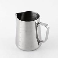 การดื่มนมไม่ติดด้วยเครื่องชั่งกาแฟ Barista Craft เหยือกทำฟองลาเต้อาร์ตแบบพกพาแบบสแตนเลส