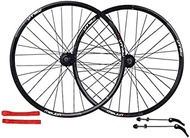 """MTB Wheelset 26""""Bicycle Rim Double Alloy Q/R MTB 7 8 9 10 Speed Wheelset 32H, Yellow-26In"""