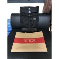 全新正品 TUMI Roll Top Backpack 黑色 捲蓋 後背包;