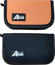 2 Packs of Aplus Carrying Case Wallet Holder Storage Bag for JUUL Vape, Pods and Charger (1 Black and 1 Orange)