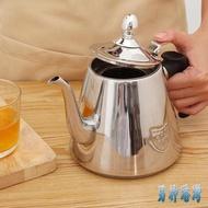 加厚304不銹鋼燒水壺泡茶壺家用過濾熱水壺煮水壺燒水壺茶具LXY2317【男神港灣】