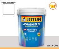 20 Litre Jotun Paint Jotashield Antifade 0001 White 20L (Exterior Wall Paint White Weatherproof Cat Dinding Luar Rumah Cantik Putih Kalis Air Jotun Weather Outdoor)
