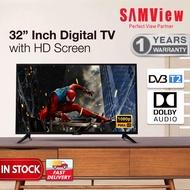 32 INCH SAMVIEW DIGITAL DVB T2 LED TV FOR SABAH/SARAWAK