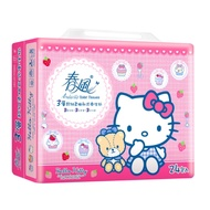 春風三層抽取式衛生紙 100抽x24包/串-Hello Kitty點心風
