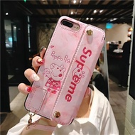Tide brand vibrating pig Peggy OPPO R9 R9S R11 R11S PLUS R15 PHONE Case Cover Casing  imitation leat