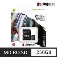 【Kingston 金士頓】Canvas Select Plus microSDXC 256G 記憶卡(SDCS2/256GB)