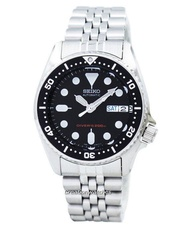 Seiko Divers Automatic 200M 21 Jewels Men's Silver Tone Stainless Steel Strap Watch SKX013K2