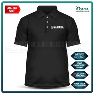 Dry Fit Yamaha Sulam Casual Polo T Shirt TZM Y125Z LC135 RXZ Y15 MotoGP Motorcycle Motosikal Superbike Racing Team Bike