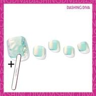 Dashing Diva - Magic Press MDR1007P 薄荷綠美人魚 (足部超薄甲片) 加配 品牌指甲銼