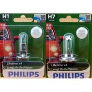 @SMART精品@PHILIPS燈泡 H1&H7燈泡 4倍使用壽命 環保型恒勁光  別問只賣120元