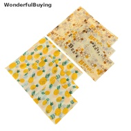 【WonderfulBuying】 Food Wrap Beeswax Reusable Sustainable Plastic Free Beeswax Food Storage Wrap Hot