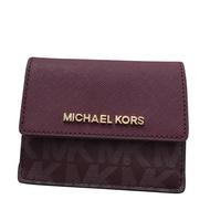 MICHAEL KORS MK 紅色 防刮PVC 35F7GTVD6V 卡片夾 零錢包 鑰匙包~M09021