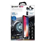 Xpower - (黑白盒包裝) (黑色) Xpower CMM 磁力快拆 10W 無線快充車支架 自動調節手機夾 360°旋轉設計 無線快充 磁石吸附 Magnetic 10W Wireless Fast Charging Car Mount Holder xp-cmm-bk